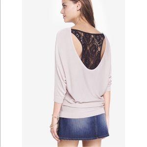 Lace Back Dolman Sweater